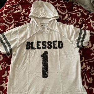 On Fire 'Blessed 1' hooded shirt
